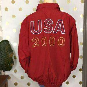 Vintage 2000's USA windbreaker bomber jacket